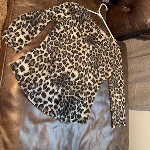 Rebecca Taylor Sz Small Leopard Peplum Top